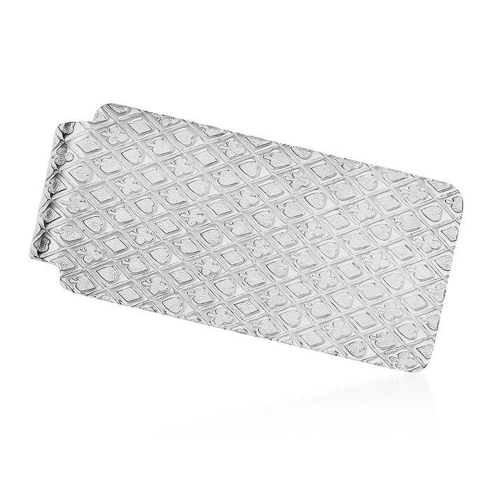 Sterling Silver  Polished Textured Money Clip, , default