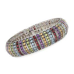 20.10 ct. t.w. Multi-Stone Bracelet in Sterling Silver, , default