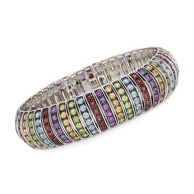 20.10 ct. t.w. Multi-Stone Bracelet in Sterling Silver, , default