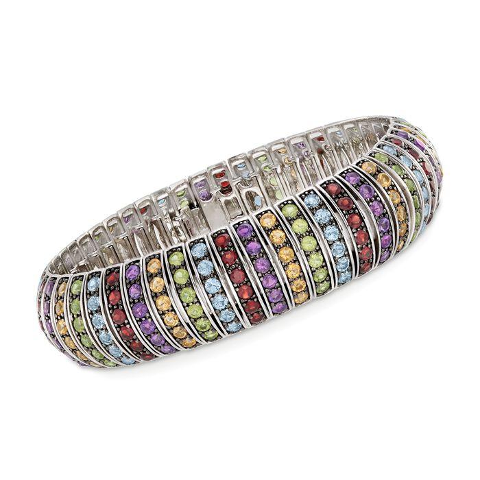 """20.10 ct. t.w. Multi-Stone Bracelet in Sterling Silver. 7.5"""", , default"""