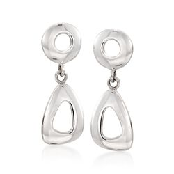 Zina Sterling Silver Open Geometric Drop Earrings, , default