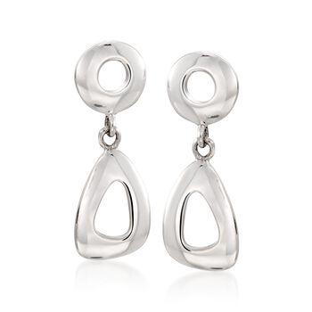 Zina Sterling Silver Open Geometric Drop Earrings, , default