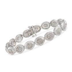 1.00 ct. t.w. Diamond Cluster Bracelet in Sterling Silver, , default