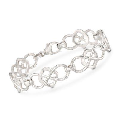 Zina Sterling Silver Infinity-Link Bracelet, , default