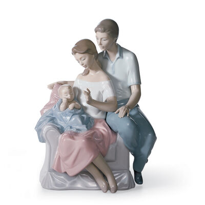 "Lladro ""A Circle of Love"" Porcelain Figurine, , default"