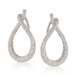 .50 ct. t.w. Diamond Teardrop Earrings in 14kt White Gold , , default