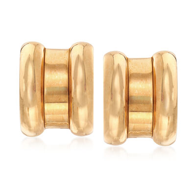 C. 1980 Vintage Chopard 18kt Yellow Gold Clip-On Earrings