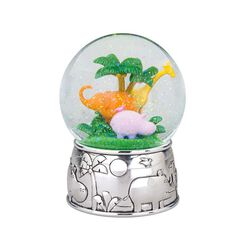 "Reed & Barton ""Jungle Parade"" Silver Plate Musical Water Globe, , default"