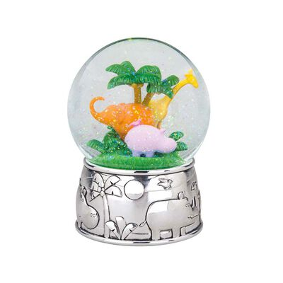 """Reed & Barton """"Jungle Parade"""" Silver Plate Musical Water Globe, , default"""