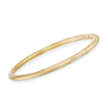 "Italian Andiamo 14kt Yellow Gold Narrow Bangle Bracelet. 7.5"", , default"