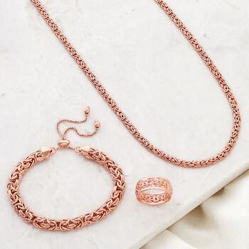 18kt Rose Gold Over Sterling Byzantine Bolo Bracelet