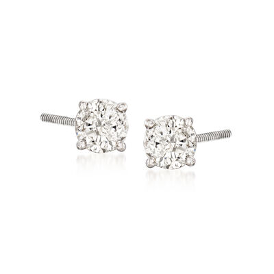 C. 2000 Vintage .45 ct. t.w. Diamond Stud Earrings in 14kt White Gold, , default