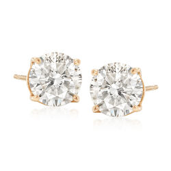 2.25 ct. t.w. Diamond Stud Earrings in 14kt Yellow Gold, , default