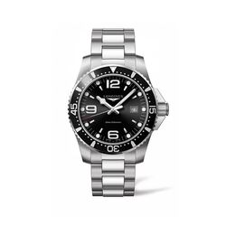 Longines Hydroconquest Men's 44mm Stainless Steel Watch - Black Dial, , default