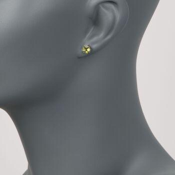 1.80 ct. t.w. Peridot Stud Earrings in 14kt White Gold, , default