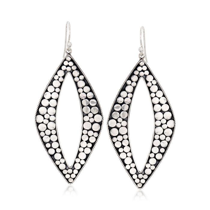 Sterling Silver Multi-Circle Drop Earrings, , default
