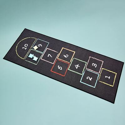 Child's Hopscotch Play Rug with Beanbags