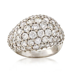 C.1970 Vintage 3.50 ct. t.w. Diamond Dome Ring in 18kt White Gold, , default