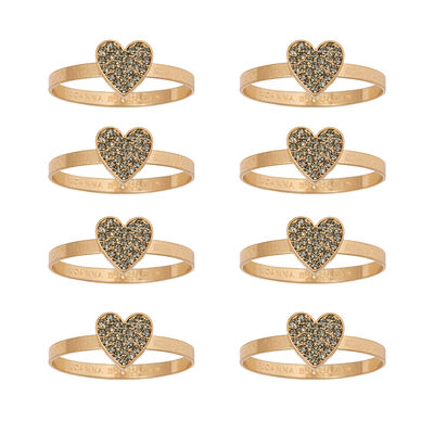 Joanna Buchanan Set of 8 Heart Napkin Rings
