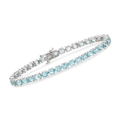 18.00 ct. t.w. Blue Topaz Tennis Bracelet in Sterling Silver, , default
