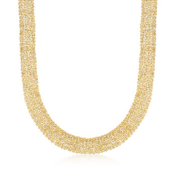Italian Tessuto Chain Necklace in 14kt Yellow Gold, , default