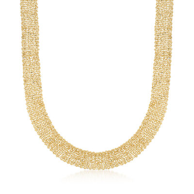 Italian Tessuto Chain Necklace in 14kt Yellow Gold
