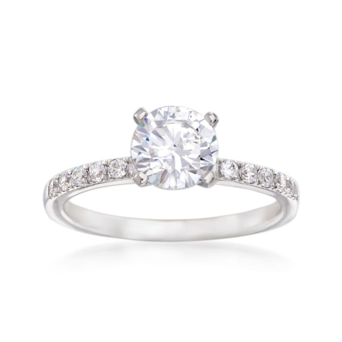 Simon G. .23 ct. t.w. Diamond Engagement Ring Setting in 18kt White Gold