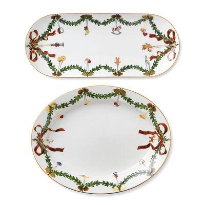 """Royal Copenhagen """"Star Fluted"""" Serving Platter"""