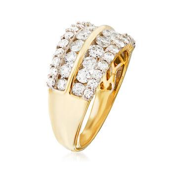 1.50 ct. t.w. Diamond Multi-Row Wedding Ring in 14kt Yellow Gold, , default