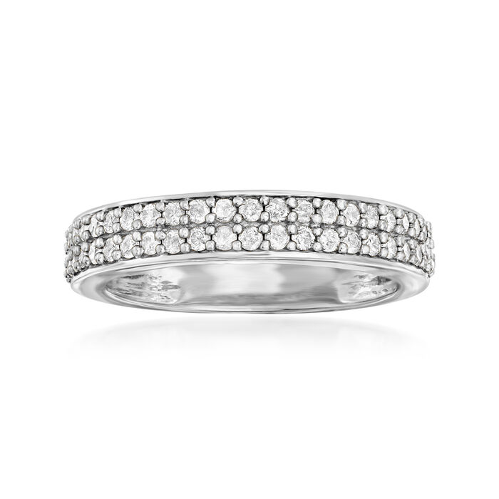 .50 ct. t.w. Diamond Double-Row Ring in Sterling Silver