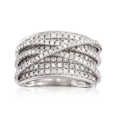 2.00 ct. t.w. Diamond Highway Ring in Sterling Silver, , default
