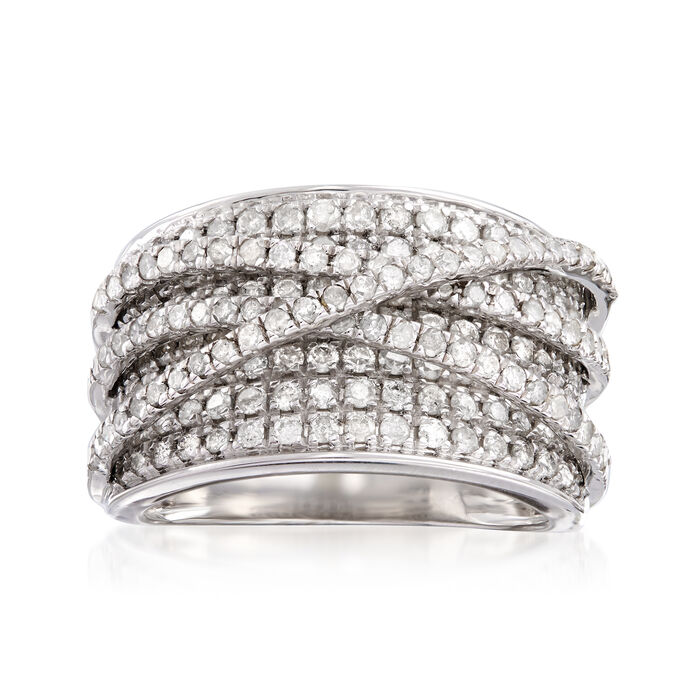 2.00 ct. t.w. Diamond Highway Ring in Sterling Silver