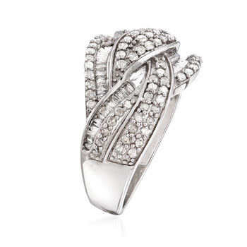 1.00 ct. t.w. Diamond Braided Ring in Sterling Silver, , default
