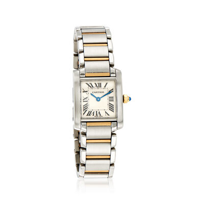 Pre-Owned Cartier Tank Francaise 25x20mm Stainless Steel and 18kt Yellow Gold Watch, , default