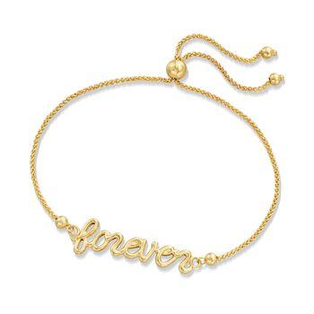 """14kt Yellow Gold """"Forever"""" Bolo Bracelet, , default"""