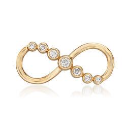 .20 ct. t.w. Diamond Bezel Infinity Symbol Pin, , default