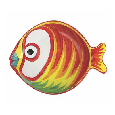 "Vietri ""Pesci Colorati"" Figural Fish Medium Serving Bowl from Italy"