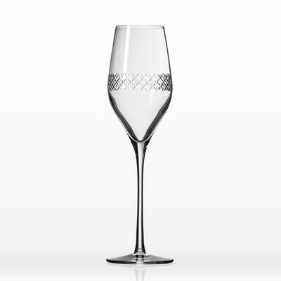 "Rolf Glass ""Diamond"" Set of 4 Flute Glasses, , default"