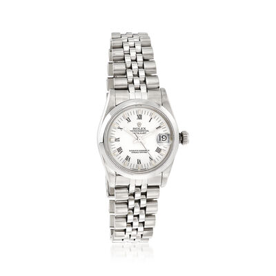 Pre-Owned Rolex Datejust Women's 30mm Automatic Watch in Stainless Steel, , default