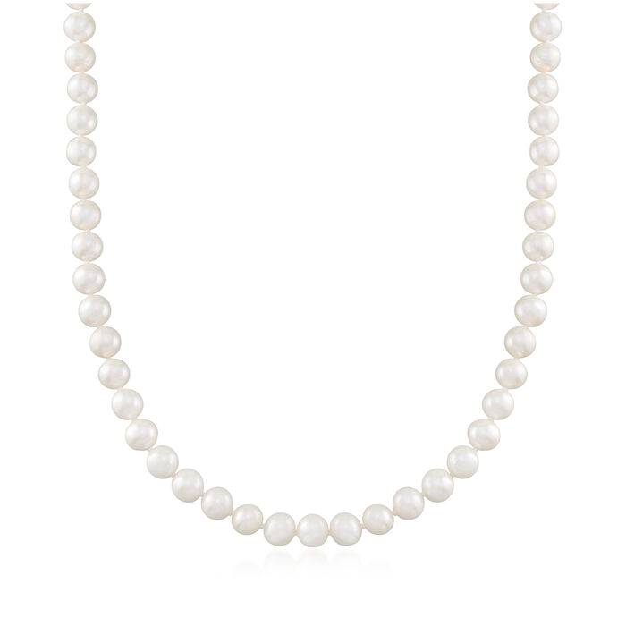 8-8.5mm Cultured Pearl Necklace with Sterling Silver Magnetic Clasp