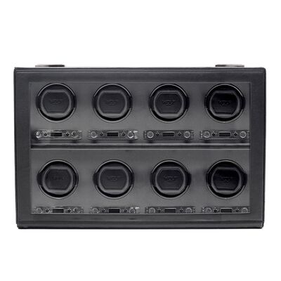 """Viceroy"" Black Faux Leather Eight-Module Watch Winder by Wolf Designs , , default"