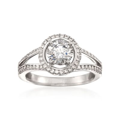 Simon G. .34 ct. t.w. Diamond Engagement Ring Setting in 18kt White Gold