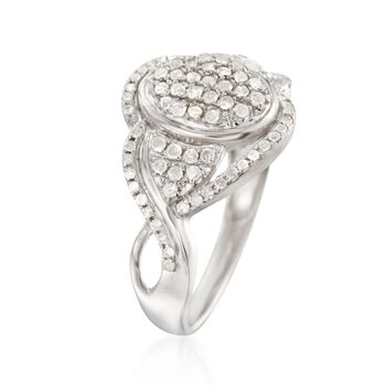.49 ct. t.w. Diamond Swirl Ring in Sterling Silver, , default