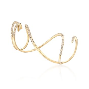 .93 ct. t.w. Diamond Knuckle-Wrap Ring in 14kt Yellow Gold. Size 5, , default
