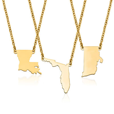 14kt Yellow Gold U.S. State Necklace