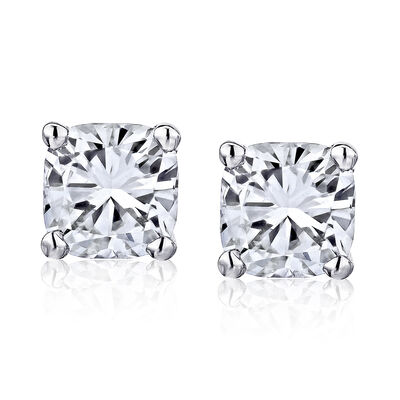 1.90 ct. t.w. Diamond Stud Earrings in 14kt White Gold