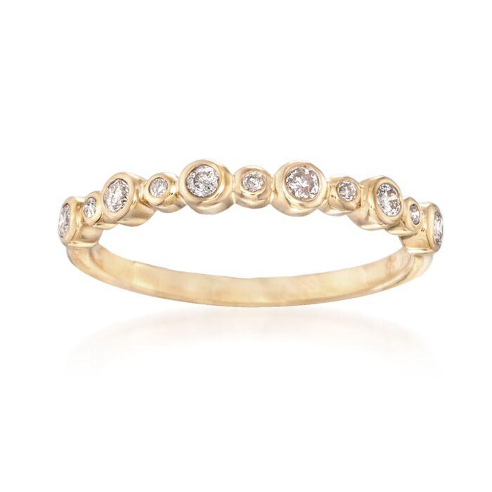 .20 ct. t.w. Bezel-Set Diamond Ring in 14kt Yellow Gold