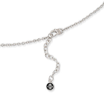 """Andrea Candela """"La Romana"""" .14 ct. t.w. Diamond Necklace in Sterling Silver and 18kt Gold, , default"""