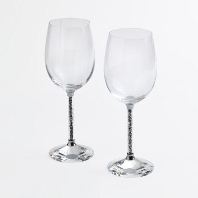 """""""Hematite"""" Set of 2 Goblet Glasses"""