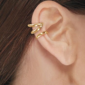 14kt Yellow Gold Single Ear Cuff, , default